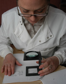 Forensic Handwriting Expert Examining